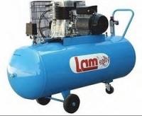 Αεροσυμπιεστής λαμ Lam 150lt Ελληνικής κατασκευής με Ιμάντα Δικύλινδρος 150/2.5/EASY  Κεφαλή Μαντέμι  VOLT: 230  Αεροφυλάκιο 150lt  Ιπποδύναμη 2.5hp  Παροχή 246L/min  Πίεση 8bar/116psi