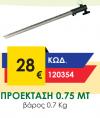 ΠΡΟΕΚΤΑΣΗ 0.75 MT