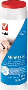 Mirmex 500gr Εντομοκτόνο δόλωμα για την καταπολέμηση των μυρμηγκιών.  Μετά την κατάποση του δολώματος το μυρμήγκι δεν εξοντώνεται άμεσα έχοντας τον χρόνο να μεταφέρει το δόλωμα μέσα στην φωλιά. Έπειτα το δόλωμα καταναλώνεται και από τα υπόλοιπα μέλη της α