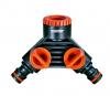Ρακορ βρυσης διπλης παροχης  με 1/2 και 3/4 48599 claber made in italy