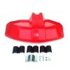 Πλαστικός προφυλακτήρας θαμνοκοπτικού. Κατάλληλος για τους περισσότερους τύπους θαμνοκοπτικών. Μπορεί να τοποθετηθεί σε καλάμια (μπαστούνια) διαμετρήματος 24 - 26 - 28 και 30 mm. Διαστάσεις: 37 x 20 εκ. Προέλευση: Ιταλία.