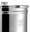 Ανωξειδωτο με χερουλια δοχείο βαρέλι inox 18/10 λαδιού κρασιού