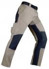 A Niger beige / grey χονδρό  παντελόνι εργασίας αγροτικής χρήσης προστασίας εργαζομένων είδη προστασίας εργαζομένων ασφαλείας kapriol Italian design 260gr/m 35% cotton Ανθεκτικό στην χρήση!