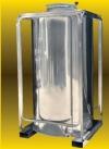 Παλετοδεξαμενες ινοχ καθετες ινοξ inox τροφιμων λαδιου κρασιου τσιπουρου. 1000 λιτρα - 1649 ευρω.