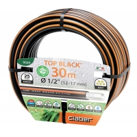 Α Λάστιχο ποτίσματος ατοξικο top black claber 1/2 15m italy